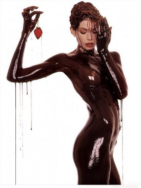 chocolate woman