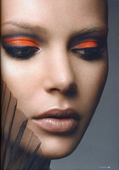 orange eye makeup