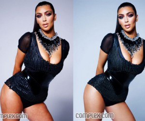Kim with cellulite