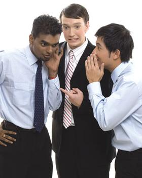Men gossiping