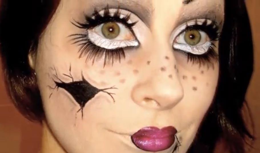 Easy Dead Creepy Doll Makeup Tutorial - Mugeek Vidalondon