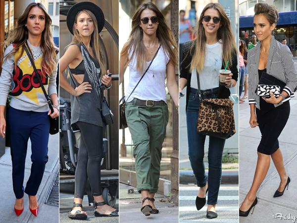 Celebrity Street Style: Jessica Alba!