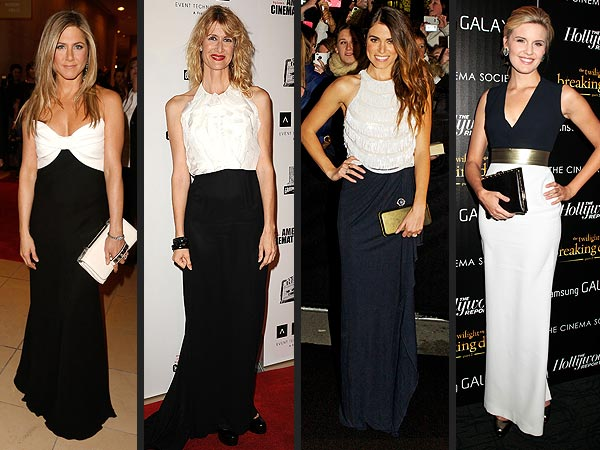20 ways to wear black and white outfits female fatal - Black and white red carpet dresses ...