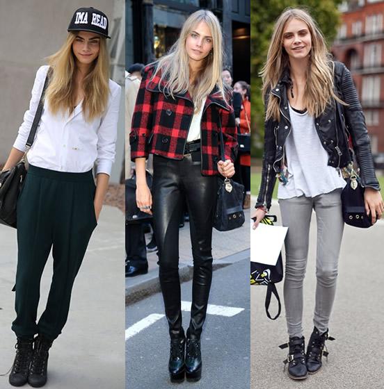 Celebrity Street Style:Cara Delevingne!