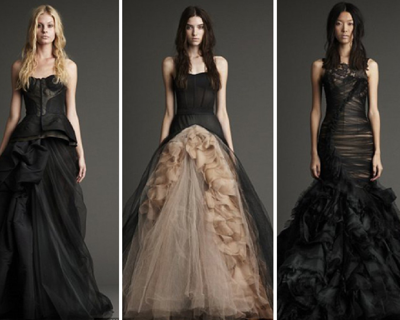 Black wedding dresses yes or no female fatal for Images of black wedding dresses