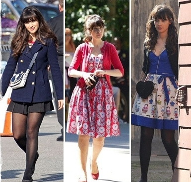 Zooey likes polka dots just as much as her New Girl character Jess and  she wear them well.